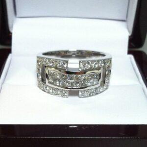 14K White Gold Men's Diamond Wedding Ring (#GR70S10WG)