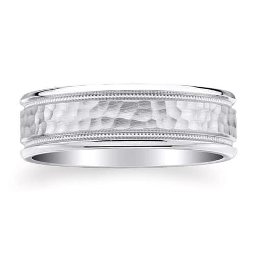 Milgrain Wedding Ring In Platinum 7mm: PLATINUM 950 Design Wedding Ring 7mm (#GR18H7PT)